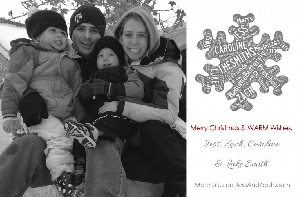 Smith Family Christmas Card 2013 - FINAL Print